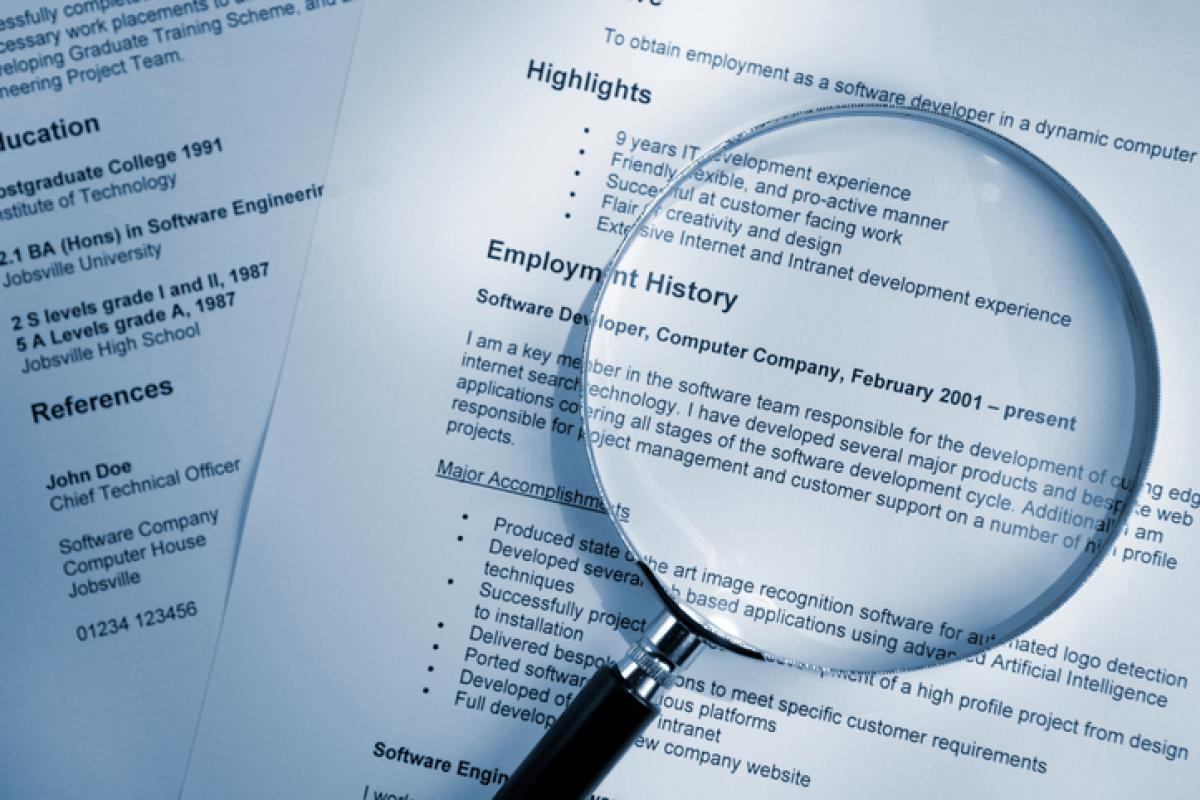 hrm five signs of a cooked up cv