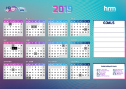 Free 2019 printable calendar from HRM Magazine Asia